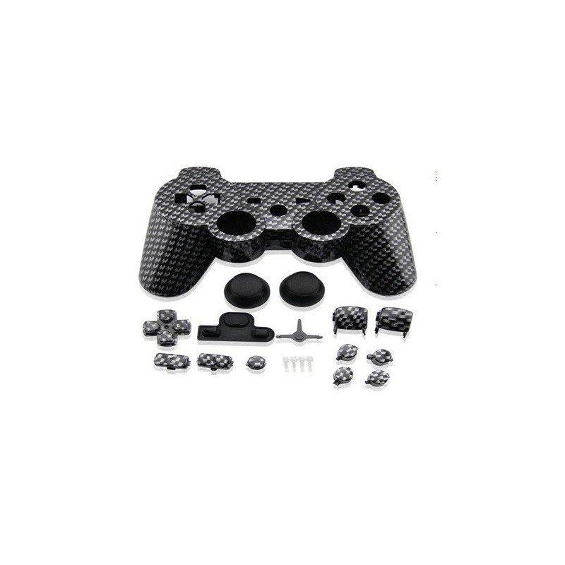 Carcasa mando DualShock 3 PS3 (Fibra carbono)
