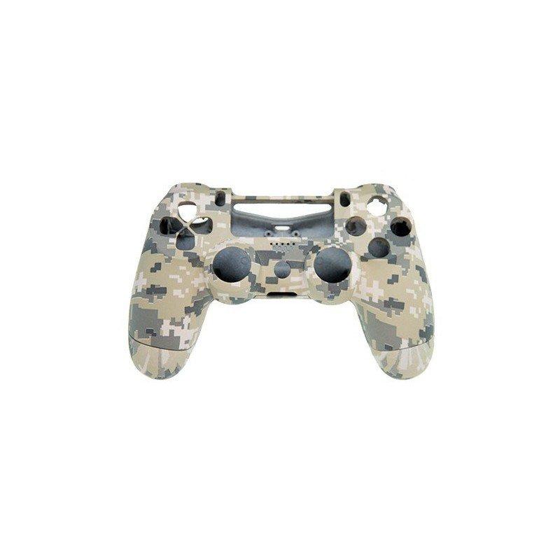 Carcasa PREMIUM mando DualShock 4 PS4 (Camuflaje desierto - Mate)