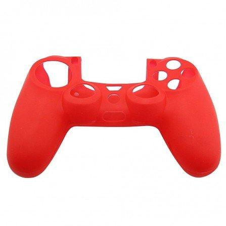 Protector funda silicona mandos PS4 -ROJA-