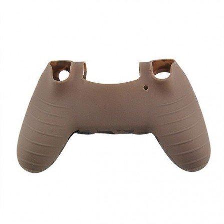 Protector funda silicona mando PS4 - CAMO MARRON