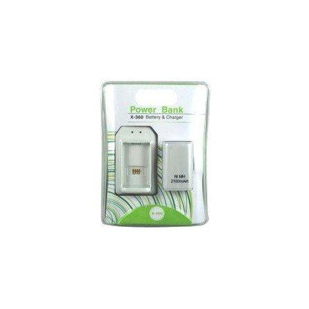 Cargador POWER BANK + bateria 2100mah XBOX360