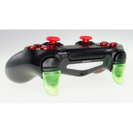 Prolongador extensor de gatillos mando PS4 VERDE