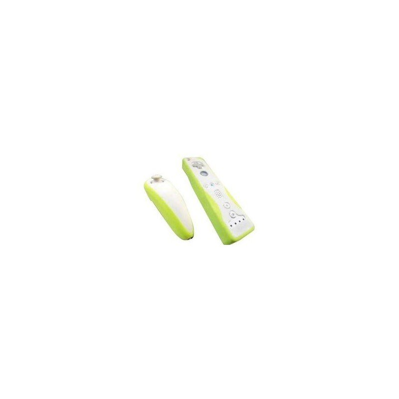Protectores Silicona para mandos Wii *Amarillo Fluorescente*