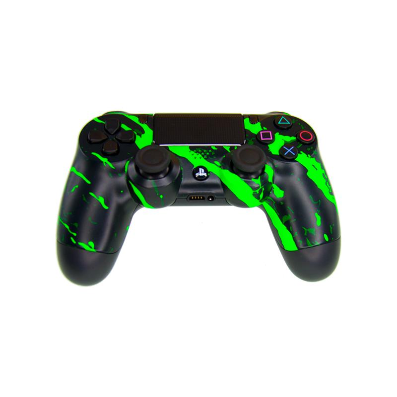 Mando DualShock 4 TOP Scratch Green MODz