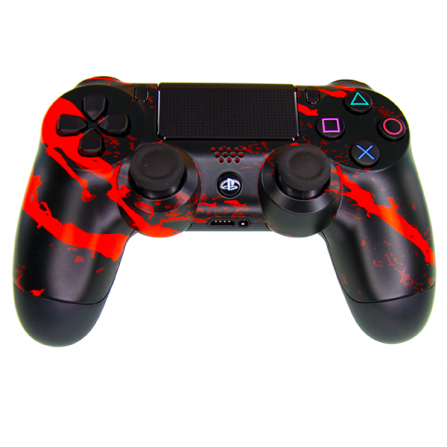 Mando DualShock 4 TOP Scratch Orange MODz