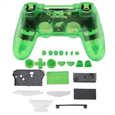 Carcasa completa + botones DualShock 4 PS4 - CRISTAL GREEN