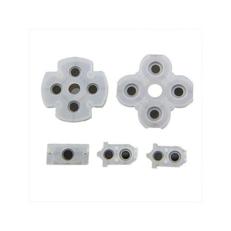 Set de gomas para botones DualShock 4 PS4 V.2 (5 piezas)