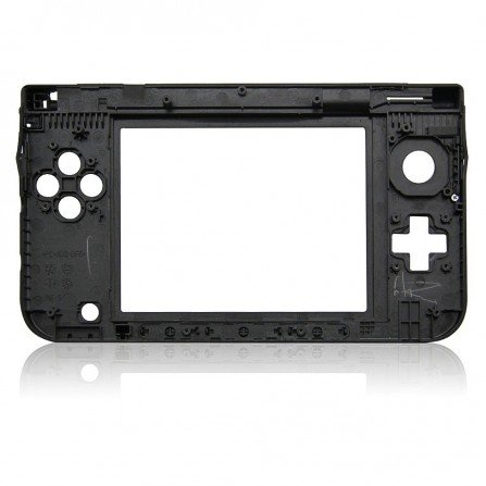 Carcasa bisagra 3DS XL NEGRA (solo parte de bisagras)