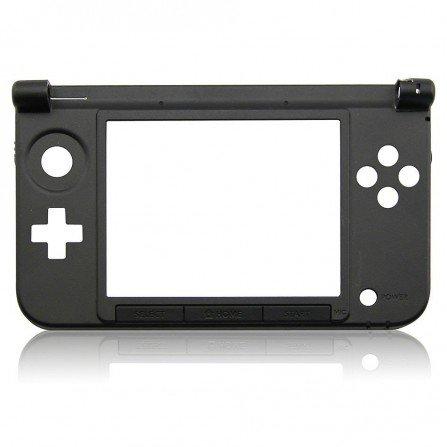 Carcasa 3DS XL Negra  (solo parte de bisagras)