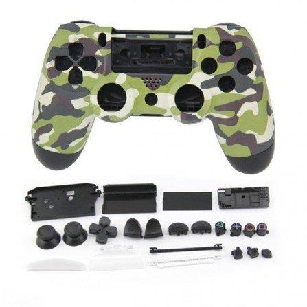 Carcasa completa + botones DualShock 4 PS4 - CAMO VERDE
