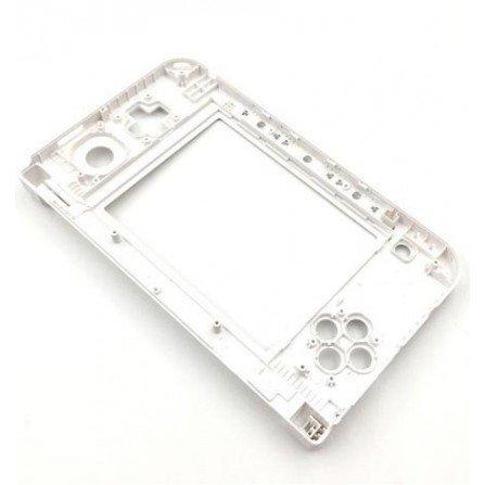Carcasa 3DS XL Blanca  (solo parte de bisagras)