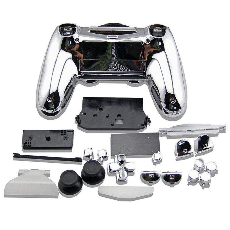 Carcasa completa + botones DualShock 4 PS4 - Cromado