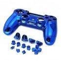 Carcasa completa + botones DualShock 4 PS4 (Azul metalizado)