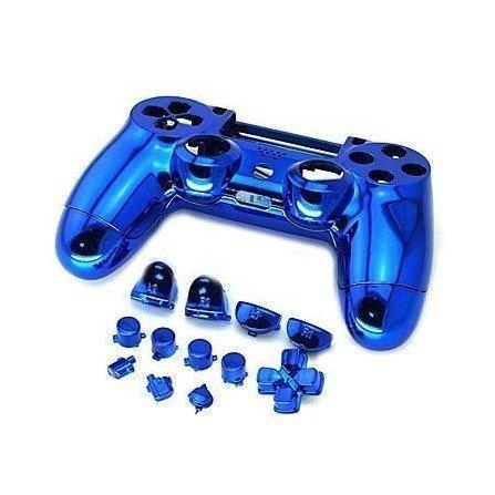 Carcasa completa + botones DualShock 4 PS4 - AZUL METALIZADO