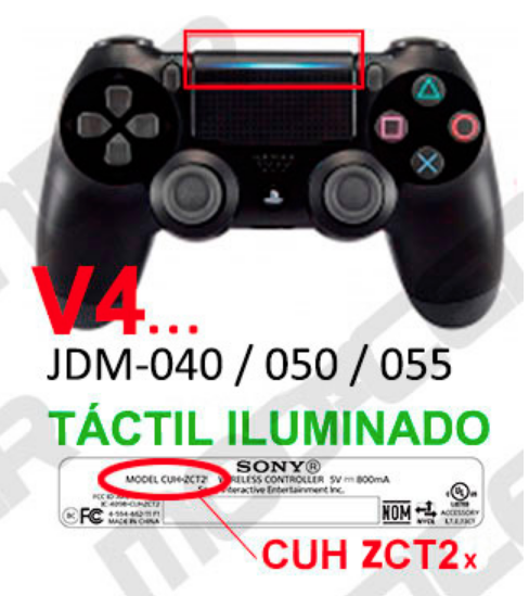 mando ps4 v2 led tactil fortnite