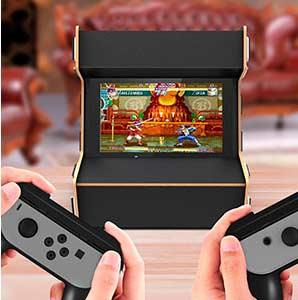 soporte mueble arcade para nintedo switch