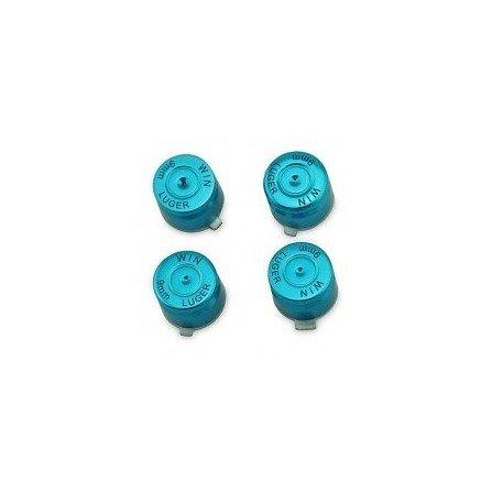 Kit botones metal  casquillo de bala DualShock 4 PS4 (Azul)