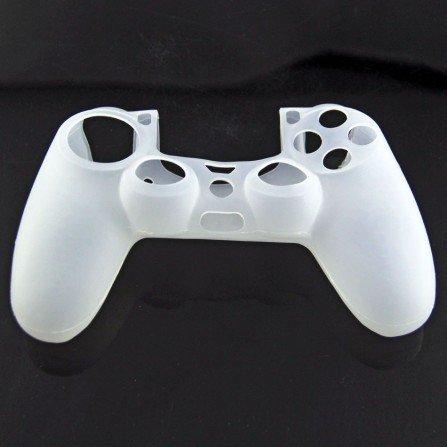 Protector silicona mandos  PS4 - TRANSPARENTE -