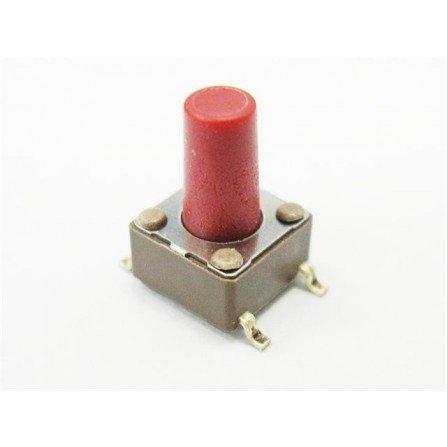 pulsador boton mod rojo