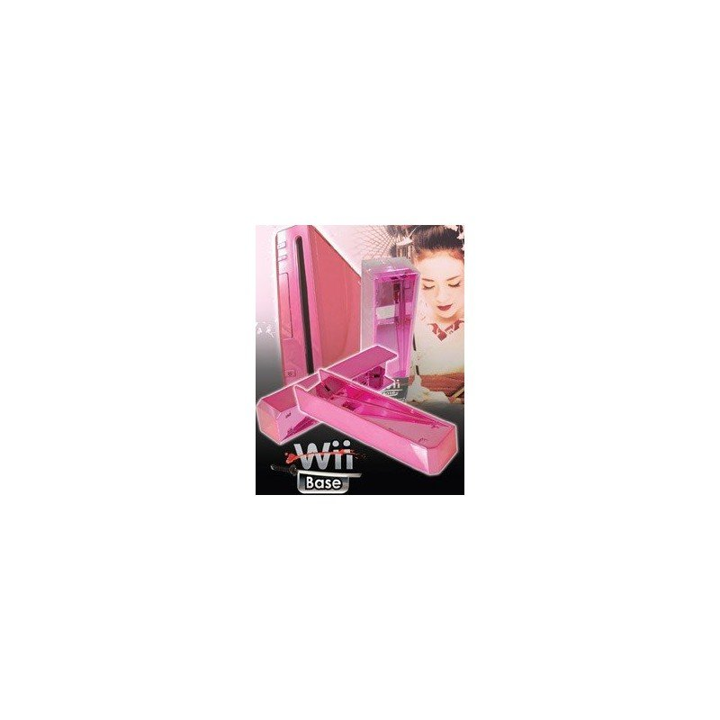 Base Stand Wii -ROSA CROMADO-