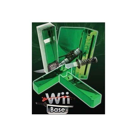 Base Stand Wii -VERDE CROMADO-