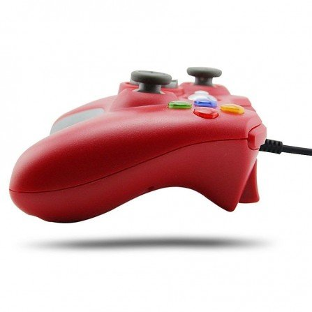 Mando con Cable XBOX360 & PC - ROJO