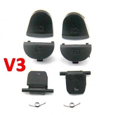 Kit gatillos L2 / R2 + L1 / L2 + Muelles DualShock 4 PS4 (V3)