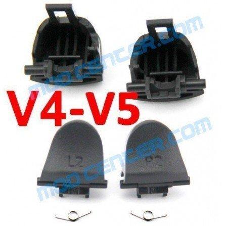 Kit gatillos L2 / R2 + 2 Muelles DualShock 4 PS4 (V4-V5)