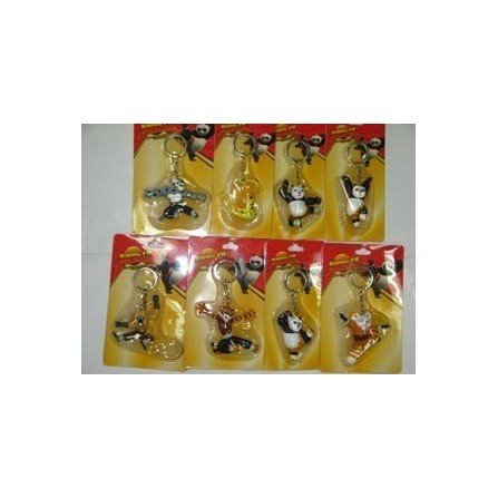 Pack llaveros Kunfu Panda (8 unidades)