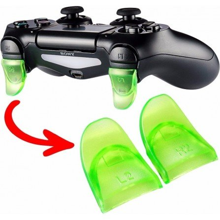 Prolongador extensor de gatillos mando PS4 VERDE (Version A)