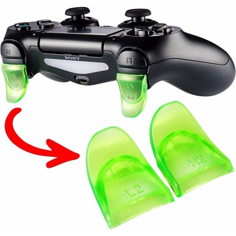 Prolongador de gatillos mando PS4 VERDE
