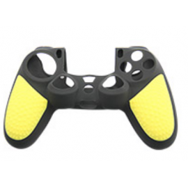 Protector funda silicona mando PS4 - Negro & Amarillo