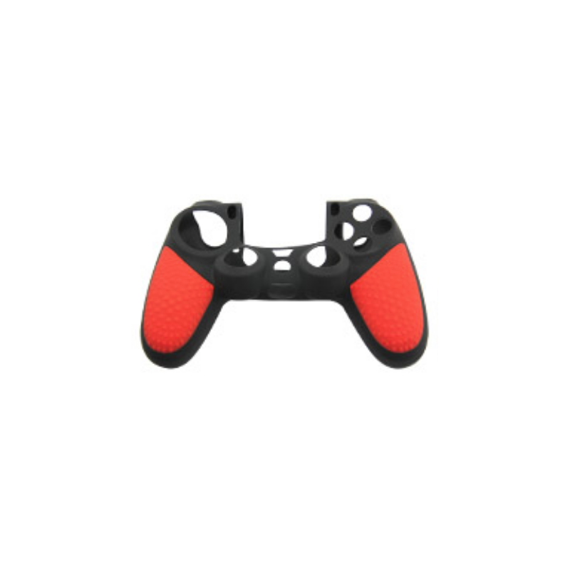 Protector funda silicona mando PS4 - Negro & Rojo
