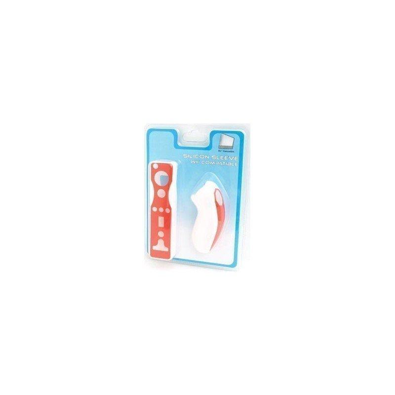 Protectores Silicona para mandos Wii PLAYERGAME *Rojo / Blanco*