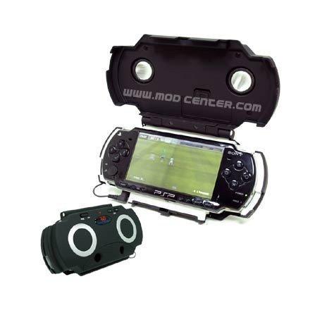 Estuche HOME CINEMA con altavoces PSP 2000/3000 (NEGRO)