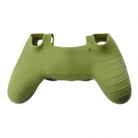 Protector funda silicona mando PS4 - CAMO VERDE MILITAR