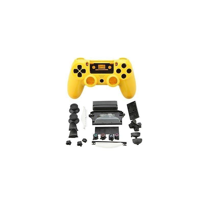 Carcasa completa + botones DualShock 4 PS4 - AMARILLA