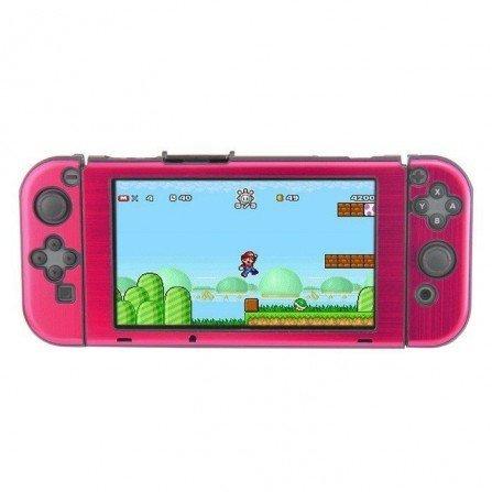 Carcasa protectora ALUMINIO Nintendo Switch - FUGSIA
