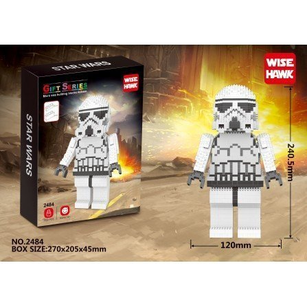 Figura de Mini bloques GIGANTE - Star Wars STORMTROPPER