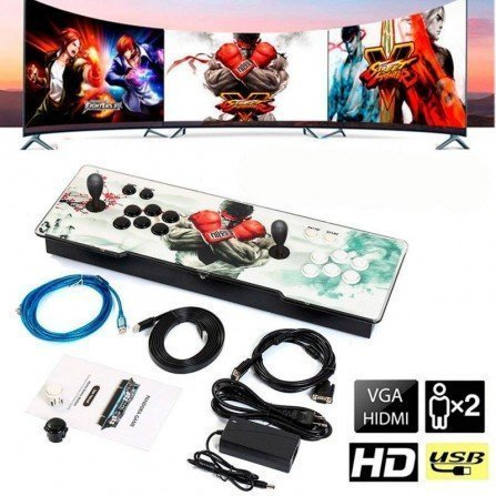 Joystick doble con maquina recreativa - Pandora BOX 5s (1299 Juegos)