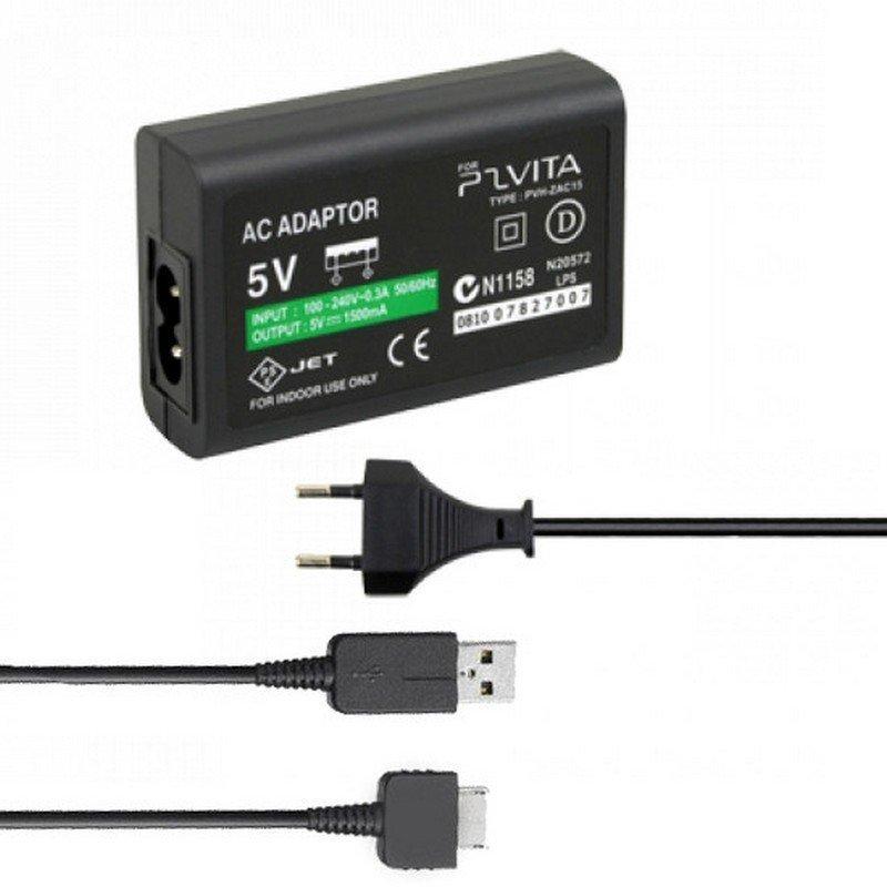 Cargador + Cable USB  PS VITA 1000