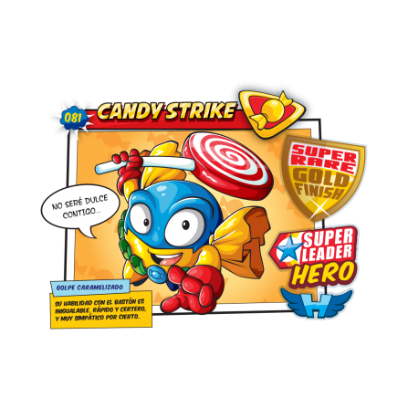 CANDY STRIKE SuperZings Figura - Caramelo