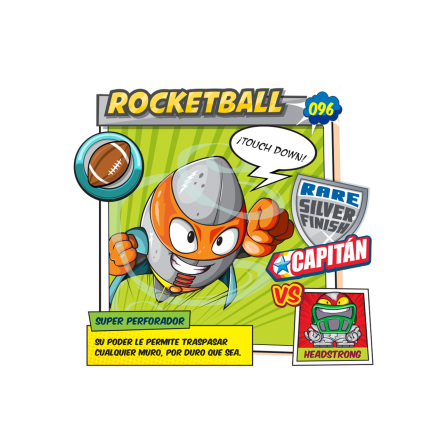 Rocketball SuperZings Figura - PELOTA BASEBALL