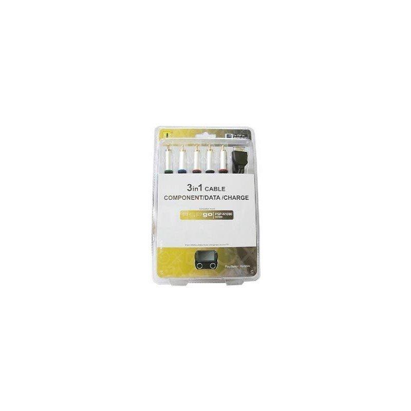 Cable Componentes + Datos + Cargador ( 3 en 1 ) PSP GO