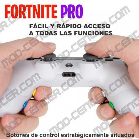 Mando PS4 Competitivo Chip Fortnite PRO + 4 botones