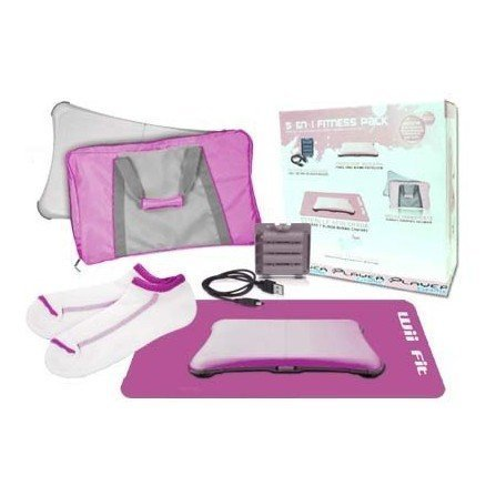 Fitness Pack Wii FIT 5 en 1  ( Rosa )