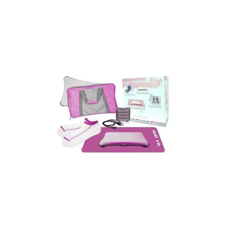 Fitness Pack Wii FIT 5 en 1  ( Rosa )