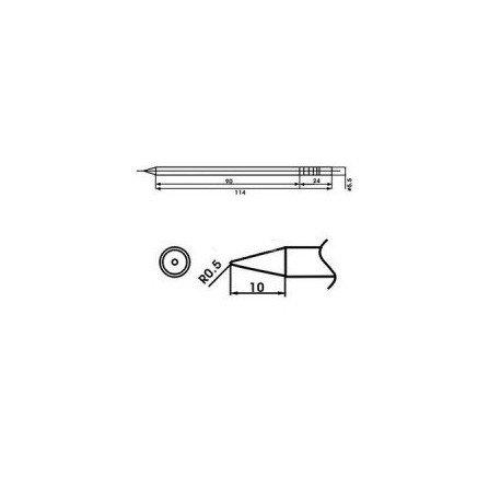 Cartucho soldador punta Redonda AOYUE ( WQ-2B )