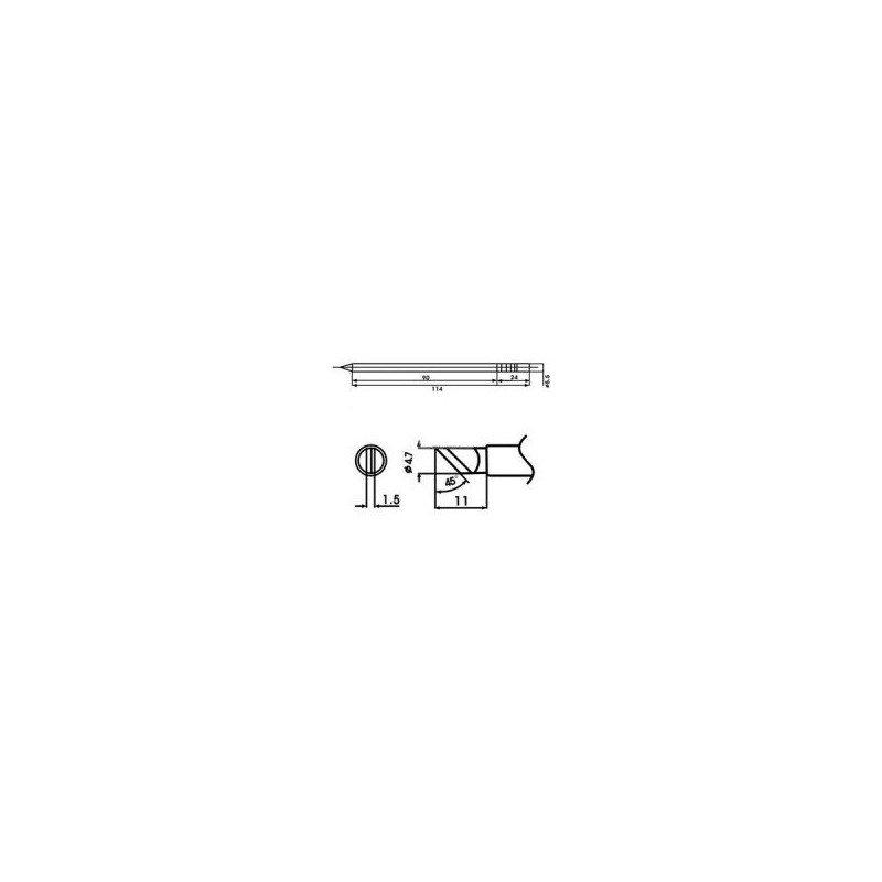 Cartucho soldador punta Guillotina AOYUE ( WQ-K )