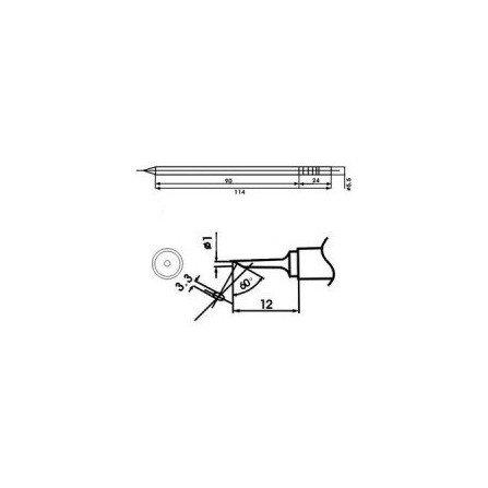 Cartucho soldador punta Biselada AOYUE ( WQ-1C )